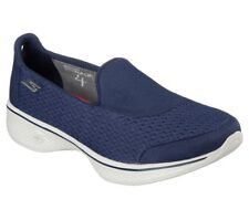Skechers Go Walk 4-pursuit da Donna Bly Navy SPORT A PIEDI Memory Foam Scarpe