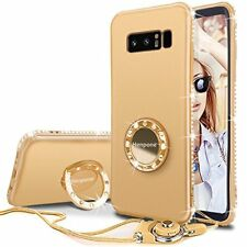 Samsung Galaxy Note 8 Case Bling Diamond Protective Cover for Girls 2017 Gold