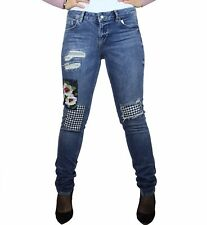 Jeans donna Liu Jo Bottom up magnetic regular pantaloni con strappi e toppe