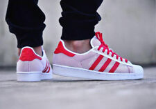 BNWB  Genuine Adidas Originals Superstar Adicolor ® White Red Trainers All Sizes