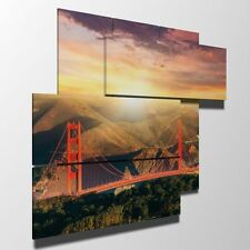 DUUDAART - Quadro moderno - San Francisco: Golden Gate 01 - Multipannello e mult