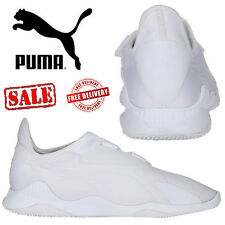 PUMA Mostro Mens Womens Triple White Sneakers Retro Sports Trainers Unisex Shoes