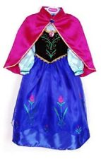 NEW - PRINCESS  ELSA AND ANNA FROZEN GIRLS DRESS UP COSTUME COSPLAY BLUE 3 SIZES