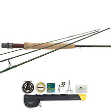 TFO Lefty Kreh Finesse Series 4PC Fly Rod and Prism Cast Reel Outfit