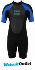 2017 Billabong JUNIOR Intruso 2 mm Volver a shorty en Zip Negro AZUL S42B08 /