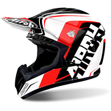 CASCO CROSS AIROH INTERRUPTOR SIGN ROJO / BLANCO / NEGRO TAMAÑOS XS < XL