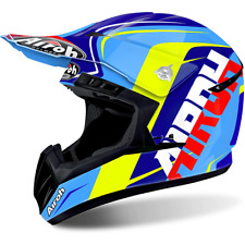 CASCO CROSS AIROH INTERRUPTOR SIGN AZUL/AMARILLO/BLANCO/ROJO TAMAÑOS XS < XL