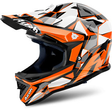 CASQUE CROSS AIROH CHIEF ORANGE GLOSS NOIR / ORANGE JUNIOR TAILLES XXS < S