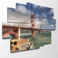 DUUDAART - Quadro moderno - San Francisco: Golden Gate 06 - Multipannello e mult