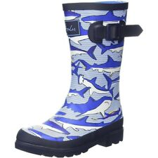 Joules Printed Welly Shark Dive Stripe Blu Marino Gomma Junior