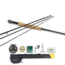 TFO Lefty Kreh Pro Series II Under 8ft 1in Fly Rod and Prism Cast Reel Outfit