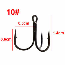 Red and Black Fishing Hook Sharpened Treble Hooks 7 Size 2/4/6/8/10/12/14