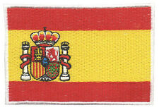 PARCHE bordado en tela BANDERA DE ESPAÑA OFICIAL, EMBROIDERED PATCH