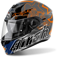CASQUE AIROH STORM BIOBNIKLE ORANGE GLOSS CHOIX TAILLE XS / XXL