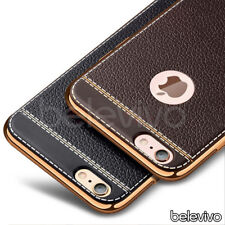 Luxury Ultra Slim Soft TPU PU Leather Case for Apple iPhone XS XR X 8 7 6S 5S SE