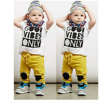 2pcs Newborn Toddler Baby Boys Outfits T-shirt Tops+Pants Kid Clothes Outfit Set