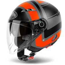 HELM AIROH URBAN JET CITY EIN WRAP ORANGE MATT WAHL GRÖßE XS / XL