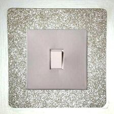 METALLIC GLITTER LIGHT SWITCH SURROUNDS - AND COVERS - EASY-FIT SELF ADHESIVE