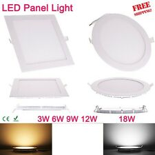 3W 6W 12W 18W Square LED Panel Downlight Round LED Ceiling Recessed Lights Slim
