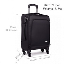 KONO Trolley Suitcase Expandable Travel Spinner Luggage Lightweight Case 28 inch