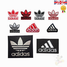 Adidas Sports Logo Embroidered Iron On Sew On Patches For Clothes Bags etc
