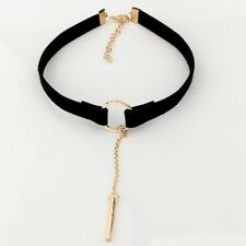 New Leather Choker Charm Necklace Vintage Hippy Chocker Retro Black Leather Cord