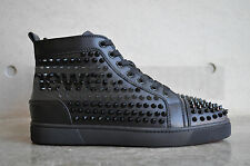 Christian Louboutin Louis Spikes Flat Black - UK 5/ US 6/ EU 39
