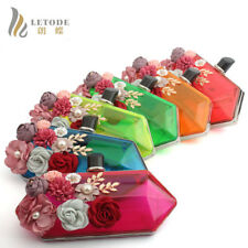 Women Evening Bag Clutch Acrylic Flower Wallet Shoulder Chain Bags Handbag Purse