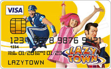 LazyTown Novelty Plastic Credit Card