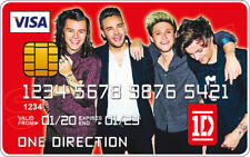 One Direction Novelty Plastic Credit Card