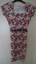Multi Floral Belted Dress With Wrap Style Skirt  from Signature