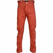 Jack and Jones antifitchinos uomo Dale Contorto Chino Mutande JEANS ROSSO