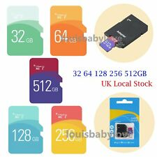 Ultra TF Flash Memory Micro SD SDHC Card 512 256 128 64 32GB  Class 10 w/ADAPTER