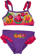 Shopkins Bikini Girls 2pc Swimming Costume Ages 4 To 8 Years