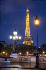 Stampa su tela Pont Alexandre III and Eiffel Tower in Paris, France - J. Becke