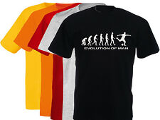 T-shirt humoristique homme Evolution of man FOOTBALL,  S, M, L, XL, NEUF.. NEW