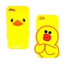 2D / 3D Duck Soft Silicone Rubber Case Cove For iPhone 5G/6G/7G 2 Types UK