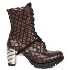 NEWROCK New Rock TR001-S59 Ladies Red Cow Leather Boots Punk Gothic Urban  Boots