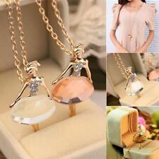 New Fashion Girls Ballet Girl Chic Pendant Choker Necklace Bib Crystal Jewelry P