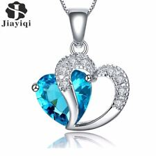 New Zircon Crystal Silver Color Jewelry Fashion Necklace For Women