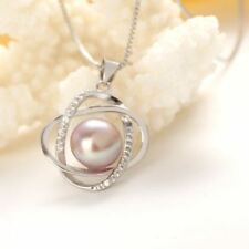Natural Pearl 925 silver necklace & pendant
