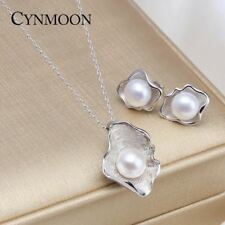 New Pearl in the shell Jewelry Set Pearl Pendant Necklace Pearl Earring Set