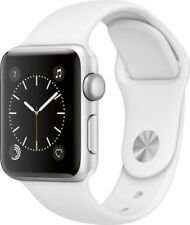 Apple Watch Series 1 38mm Black White Smartwatch Aluminum Case Sport Band seal