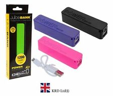 JUICE BANK PHONE CHARGER Portable Charger Battery Backup 1200 MAH Power Bank NEW