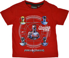 Power Rangers T Shirt Boys Short Sleeve T-Shirt Ages 3 To 8 Years