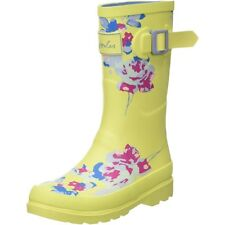Joules Printed Welly Floral Margate Jaune Caoutchouc Junior Wellington Bottes