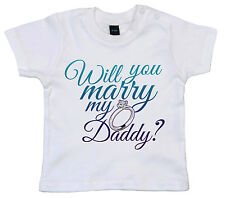 "propuesta de matrimonio CAMISETA ""Will You Marry My Daddy ?"" bebé boda"