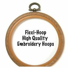Flexi Hoop Plastic Embroidery Hoop - Round & Oval, choice of colours