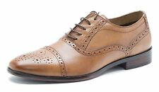 Red Tape Hartwell Brogue da uomo stringate scarpe in pelle marrone 270