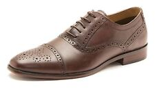 Red Tape Hartwell Brogue da uomo stringate scarpe in pelle marrone 786
